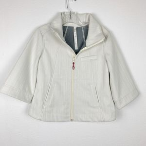 Lululemon | White Soft Shell Cropped Jacket